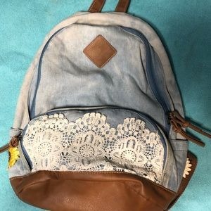 Claire's soft jean backpack bag